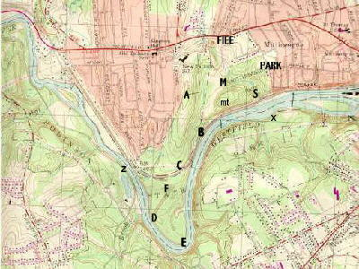 Mittineague Park topographic map